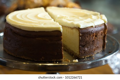 delicious fresh cheese cake on a stand
