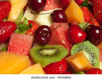 Delicious fresh fruit platter selection