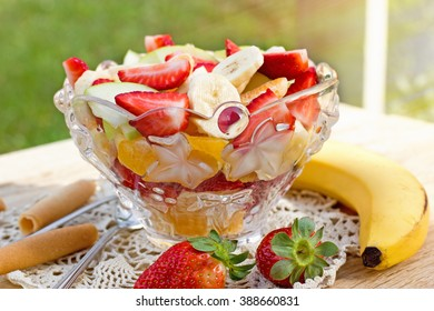Delicious and fresh fruit salad
