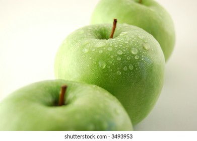 Delicious and fresh green apples