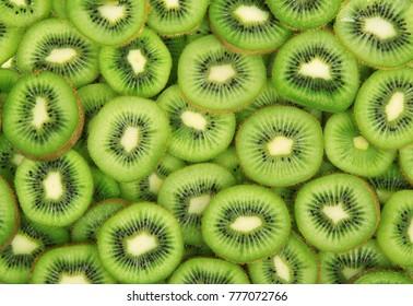 delicious fresh kiwi total background