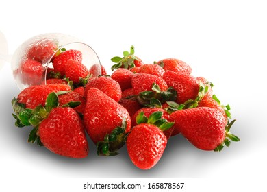 Delicious fresh ripe strawberries isolated on white.