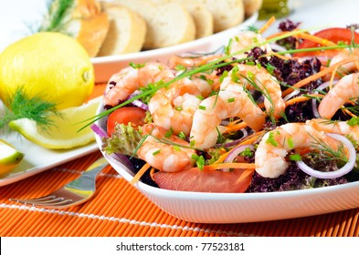 Delicious fresh scampi salad