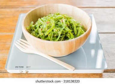 Delicious fresh seaweed spicy salad, stock photo