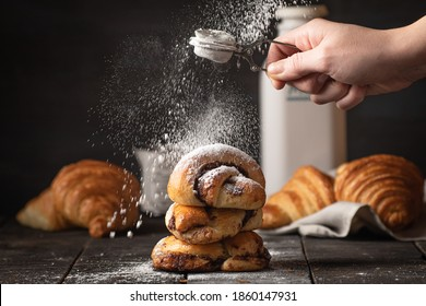 Delicious freshly baked artisan bread