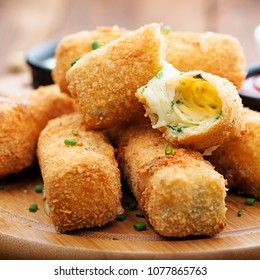 Delicious fried mozzarella cheese sticks.