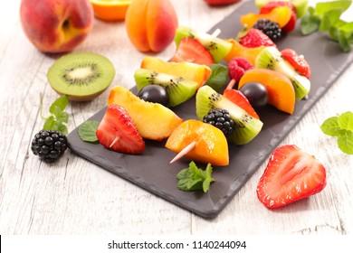 delicious fruit dessert