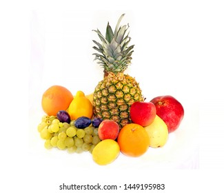 Delicious fruit photographed closeup on a white background