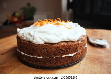 delicious gluten-free almond carrot cake with cream fraiche