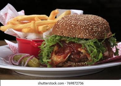 Delicious gourmet burger