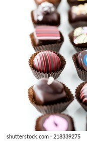 Delicious gourmet chocolate truffles hand made by professional chocolatier.