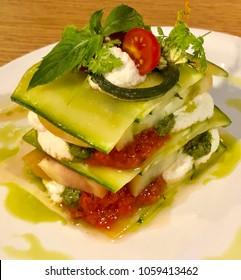 Delicious Gourmet Raw Plant Based Vegan Lasagne Vignette - Close Up