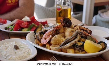 Delicious Greek Dishes On The Table