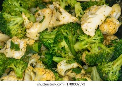 Köstliche gegrillte Broccoli und Blumenkohl