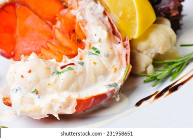 Delicious grilled lobster tails.