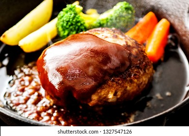 Delicious hamburg steak.