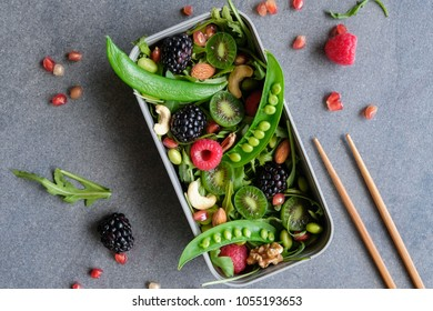 Delicious and healthy homemade salad / Mixed Berries and Nuts, Vegetable Salad / Full of nutrition goes well with breakfast and lunch food