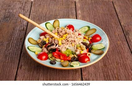 delicious healthy mixed organic salad