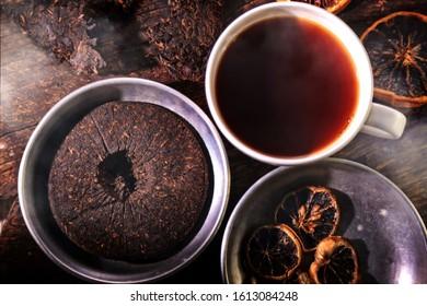 delicious and healthy pu-erh tea