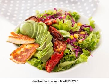 Delicious healthy salad bowl