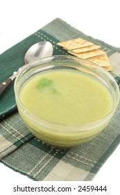 delicious and healthyvegetarian cream of broccoli soup
