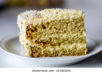 Delicious home made cake in details
