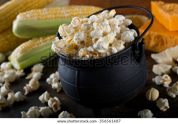 Delicious home made white cheddar flavor kettle corn popcorn.