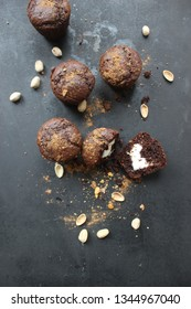 delicious homemade chocolate cookies with cherries and nuts, gluten free