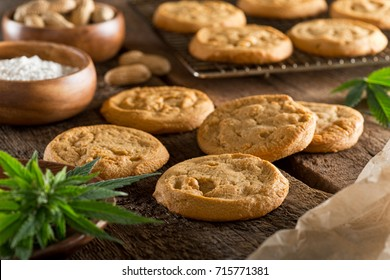 Delicious homemade peanut butter marijuana cookies.