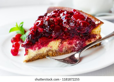Delicious Homemade Pie with fresh berries. Selective focus