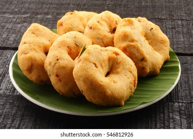 Delicious homemade uzhunnu vada from South Indian cuisine,
