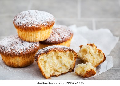 Delicious homemade vanilla and cottage cheese muffins