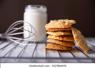 Delicious homemade vanilla and nut cookies
