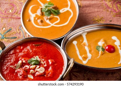 Delicious Indian curry made from fresh vegetables and meat with curry powder