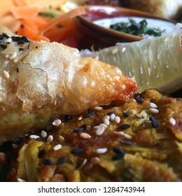 Delicious Indian food spread.