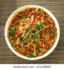 Delicious Indian Rice Dish, Indian Veg Biryani or Veg Pulao