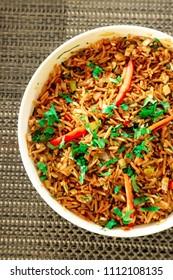 Delicious Indian Rice Dish, Indian Veg Biryani or Veg Pulao