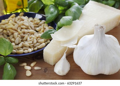 Delicious ingredients for Pesto