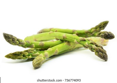 Delicious isolated asparagus on white background