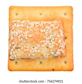 delicious isolated square cracker