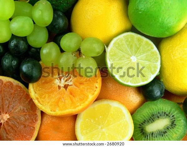 Delicious juicy fruits
