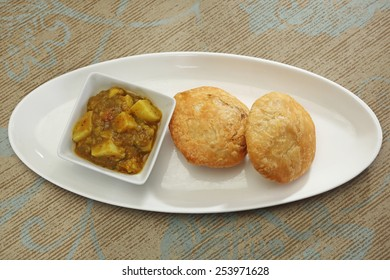 Delicious Kachori with Masala Potato - Indian Food