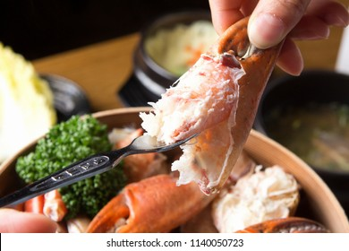 Delicious King Crab on a plate