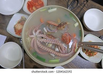Delicious Korean seafood noodles