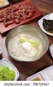Delicious korean style cold noodles In a bowl