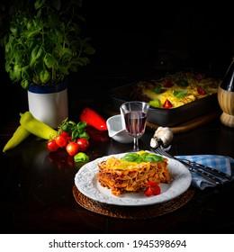 Délicieuses lasagnes à la sauce bolognaise et bechamel