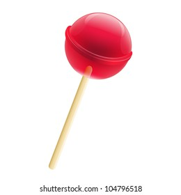 Delicious LollyPop, Isolated On White Background