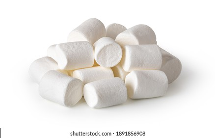 delicious marshmallows isolated on a white background