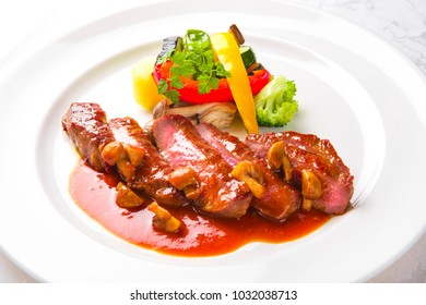 Delicious meat dish and sauce