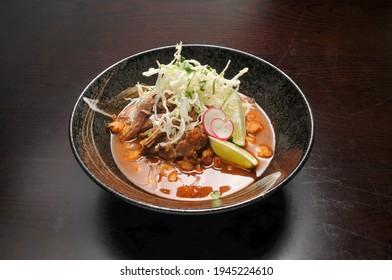 Delicious Mexican dish known as Yucatan Pozole Rojo